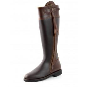 El Estribo boots Model 1232-44-2 in Serraje Castana - Box Marron